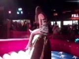 Short Dress Vs Mechanical Bull