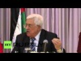 State Of Palestine: 'We Stand With Saudi Arabia' - President Abbas