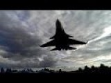 Su-33 Crazy Low Fly By Down The Runway