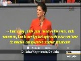 Sahra Wagenknecht November 2014 Speech In Bundestag Berlin