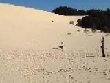 Sand Sledding In Australia