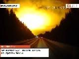 Something Exploded In The Sky Over The Sverdlovsk Region In Russia