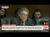Senator Al Franken Destroys Education Appointee Betsy DeVos Over Her Support For Gay Conversion Therapy