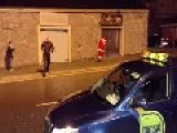 Santa Falling Around Drunk In Limerick, Ireland