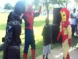 Superheroes Twerking And Venom Dancing At Kids Party
