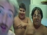 Shirtless Guys Rap In The Kitchen