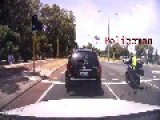 SUV Rear Ends Unmarked Police Motorcycle