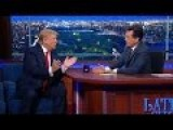 Stephen Colbert Does The Impossible: Donald Trump Shuts Down On Birtherism After Confrontation