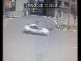 Scooter Rider Smashed By Car At Intersection