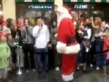 Santa Arrives At The Mall