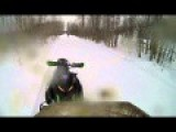 Snowmobile Explodes Deer While Traveling At High Speeds