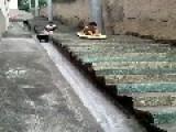 Stair Surfing