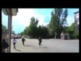 Shooting At Donetsk Bus Stop