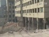 Swinging Iron Ball Takes Down Half Of Building