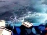 Seconds Seconds Sinking Fishing Boat In The Waters Of The Indian Ocean
