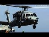 SH-60 SEAHAWK Twin Turboshaft NAVY Helicopter Takeoff + Busy Sailors Working On CVN 77 - CODE 1079
