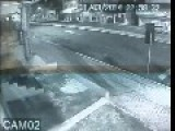 Surveillance Camera Captures Teenage Driver Crashing Stolen Car At 150km H