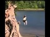 Swing Fail: Fat Lady + Rope Swing = LiveLeak Video