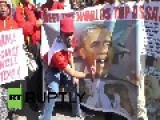 South Africa: Obama Is A War Criminal! Declare Protesters