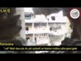 SAA Rocket Pound A Building Filled With Al-Qaeda Rebels In Aleppo