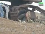 Syrian Sunni Arab Citizen Soldiers Dismantle A Regime Improvised Bomb Located Under An Earth Mover: Dara'a