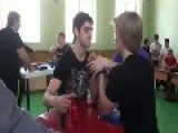 Surprise In An Arm Wrestling Match -