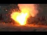 Syria - SAA Tank Cooks Off After Being Hit By ATGM