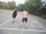 STREET BOXING, Fat Man VS Tall Man, Knockout