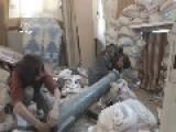 Syria - Snackbarians Piercing SAA Building 09 04
