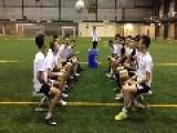 Soccer Team Completes Header Challenge