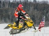 Snowmobile Racing In Lindsay, Ontario