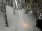 Snowmobiler Runs Over Friend's Foot