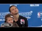 Steph Curry Cute Daughter Riley In Front Of An Audience