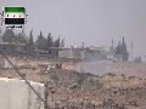 Syria - Saif Al-Sham Brigades Hit SAA Gun With ATGM 01 08