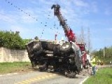 Septic Tanker Rolled Near My Place Today - Wreckage Recovery Footage
