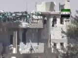 Syria - FSA Rebels Blow Up Hezbollah Heavy MG Position 23 07