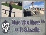 Skateboarder Flips To Ride Down Ramp On Back