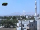 Syria - Syrian Air Force Target Terrorist Of Nusra In Damascus