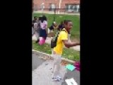 SCHOOL GIRL Gets JUMPED By RATCHET GIRLS = Volume Warning =