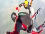Skydiving Trainee Saved From Death Spin By Instructors