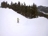 Skiing Mom Faceplants Snow