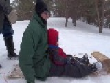 Sledding Mom Hits Kid