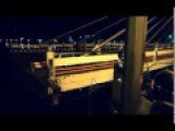 Swing Bridge In Danang, Vietnam Full Fast Forward Time Rotating