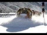 Spectacular Footage Of Train In Deep Snow New Zealand