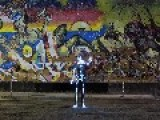 Spectacular LED Skateboarding Skeleton