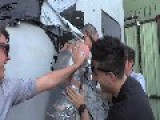 Steve-O Shot With Fireworks As He's Duct Taped To A Wall!