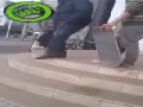 Skater Pushes Lady Down Stairs