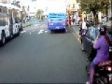 Schoolgirl Learns A Scary Lesson In Crossing A Road