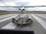 Sea Plane Takes Off From A Truck Bed