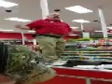 Staff Worker At Target Gives A Speech On Black Friday